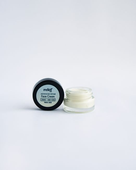 Trial Size Advanced Repair Face Cream w/ CBG by Relēf CBD